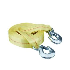 4 Qty Tow Strap 20ft Long 10 000 Lbs Limit 2in Thick Heavy Duty Safety Hooks