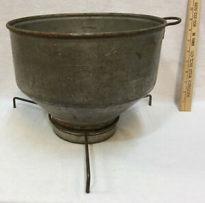Funnel Strainer Milk Strainer Cream Separator Galvanized Metal Handle Vintage