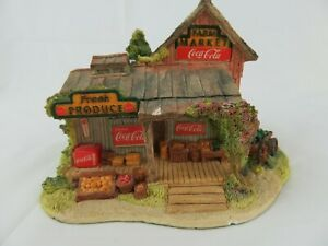 """1995 Lilliput Lane Coca Cola """"Country Fresh Pickins"""" Limited Edition Collectible"""