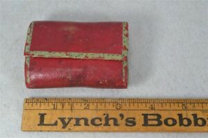 Sewing Needle Pin Case Kit Cushion Hand Made Early 19th C Red Leather Antique