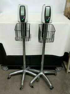 Lot Of 2 Welch Allyn Series 420 Medical Digital Patient Vital Monitor W Stands