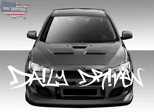 Daily Driven Graffiti Windshield Banner Decal Sticker Graphic Style 2