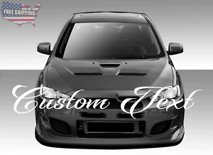 Custom Text Personalized Script Windshield Banner Decal Sticker Car Truck Suv