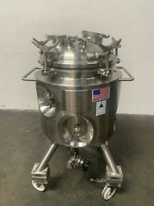 Precision 100 Liter Stainless Steel Jacketed Reactor Rated 100 Psi