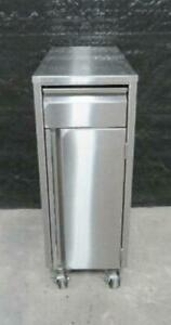 12 X 27 Stainless Steel Filler Cabinet Table On Caster Wheels Cart Counter Top