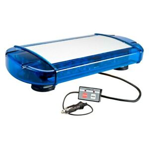 Wolo 3775m b Outer Limits Magnet Mount Blue Mini Emergency Led Light Bar
