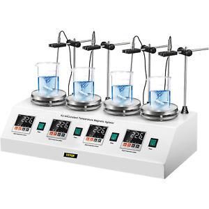 4 Heads Multi Unit Digital Thermostatic Magnetic Stirrer Hotplate Mixer 110v