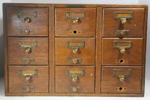 Antique 9 Drawer Card Catalog Cabinet By Library Bureau Sole Makers