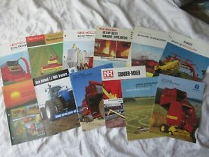New Holland Farm Equipment Baler Tractor Brochure Lot Of 12