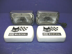 Pair Of Sev Marchal 750 Chrome Fog Driving Lights With White Covers