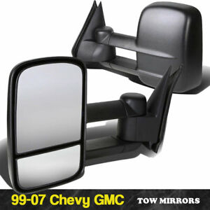 For 1999 2006 Chevy Silverado Gmc Sierra Manual Telescoping Towing Side Mirrors