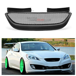 Real Carbon Fiber Front Mesh Grille Grill For Hyundai Genesis Coupe 2008 2012