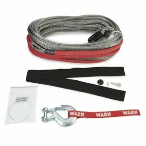 Warn Spydura Pro Synthetic Winch Rope 3 8 X 100 For Use W 15000 Lbs Or Less