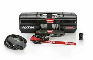 Warn Axon Powersport Winch 5500 Lbs 2495 Kg 50 Ft Of 1 4 In Synthetic Rope