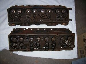 71 72 Chevrolet 400 Sbc Heads Set 2 Casting 3973493 76cc 52k Original Miles