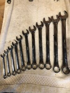 Jc Penny Vintage 11 Piece Combination Wrench Set Sae