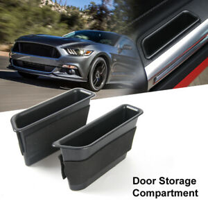 2pcs Inner Side Door Handle Storage Box Cover For Ford Mustang 2015 Accessories