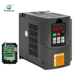 Huan Yang Cnc Vfd Variable Frequency Drive Inverter 1 5kw 110v 2hp 7a In U s