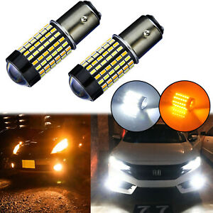 Switchback Led Front Turn Signal Light Bulbs For Honda Accord Civic Cr V Odyssey