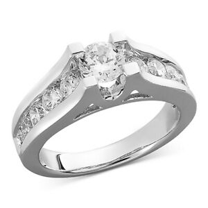 1-12 ctw Diamond Channel Engagement Ring in 14k White Gold Black Friday Deals