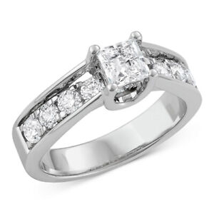 1-12 ctw Princess Cut Engagement Ring in 14k White Gold Black Friday Deals