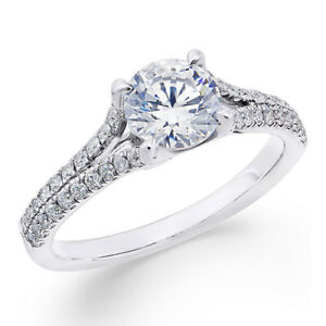 1-13 ctw Diamond Engagement Ring in 18k White Gold Black Friday Deals