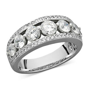2 ctw Certified Round Diamond Band Ring in 14k White Gold Black Friday Deals