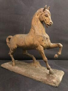 Antique N Muller Sons Spelter Horse Clock Topper Figurine 9
