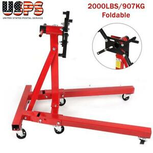 2000lbs Engine Stand Foldable Motor Hoist Engine Maintenance Repair Support Us