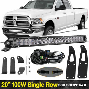 Lower Grille Mount 20 Led Light Bar W bracket Wire For 19 up Do