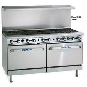 Imperial Ir 10 cc 60 In 10 burner Gas Range W Convection Ovens
