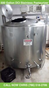 500 Gallon Dci Insulated Mixing Processing Stainless Steel Tank