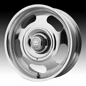 American Racing Vintage Vn506 Rally Polished 17x8 5x4 75 5x5 0mm Vn50678006100
