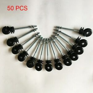 50 Pcs Ring Insulators electric 10mm Fence Fencing Polywire Poly Wire Rope Wood