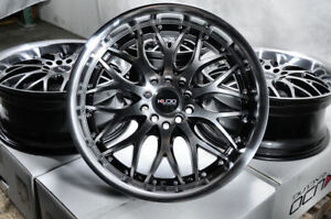 17x7 5 Black Wheels Honda Civic Accord Hr V Lexus Es300 Fit Elantra Black Rims