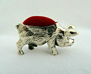 925 Sterling Silver Pig Piglet Mini Hog Animal Sewing Pin Cushion