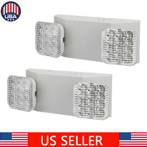 Adjust Emergency Exit Light Led Lamp Lighting Fixture 2 Square Heads Ul Listed