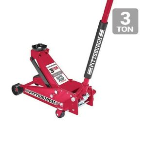 Floor Jack 3 Ton Steel Heavy Duty Floor Jack With Rapid Pump Red