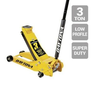 Floor Jack 3 Ton Professional Steel Floor Jack Super Duty Daytona Yellow