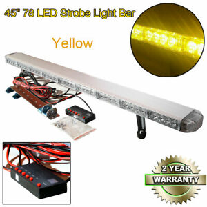 78 Led 45 Light Bar Recovery Beacon Warn Tow Truck Plow Response Strobe Yellow