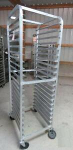 Aluminum Full Size 20 Shelf Sheet Pan Rack Cart 11 Bun Tier Baking
