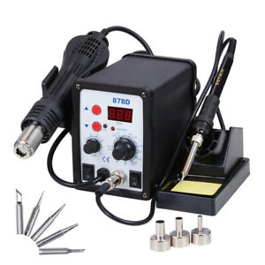 Rework Soldering Station Gun Iron Welder Digital Tool 878d 937d Optional