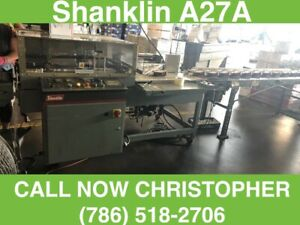 shanklin A 27a Shrink Wrapper Auto L Sealer And Shanklin Heat Tunel T 7