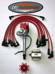 Chevy Bbc 396 427 454 Small Cap Hei Distributor Red 60k Coil Plug Wires 45s