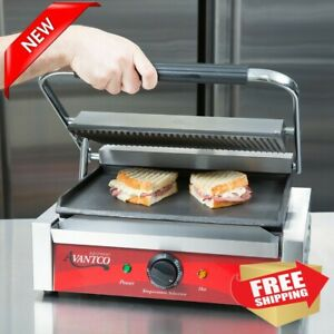 Commercial Grill Panini Sandwich Maker Press Cast Iron Heavy duty