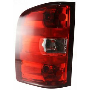 Halogen Tail Light For 2007 13 Chevy Silverado 1500 Left Clear Red W Bulbs Capa