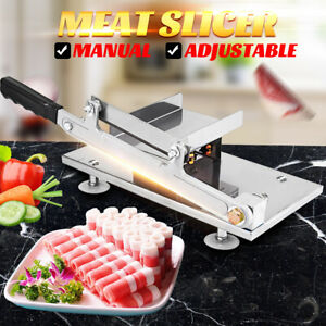 Adjustable Manual Frozen Food Meat Slicer Beef Mutton Handle Cutting Machine Us