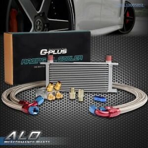 Gplus 16 Row Thermostat Adaptor Engine Racing Oil Cooler Kit For Car truck