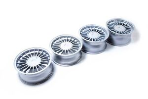 16 Wheel Set For Bmw E23 E24 E28 E32 E34 Alpina 5x120 Staggered With Flat Caps