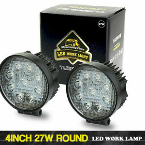 2p Pods Led Work Light Spot Lights For Truck Off Road Tractor 12v 24v Single Row